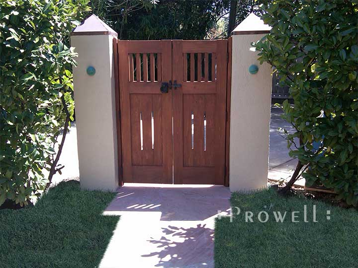 site photo showing double wooden gates #5-2 in Silicone Valley, California