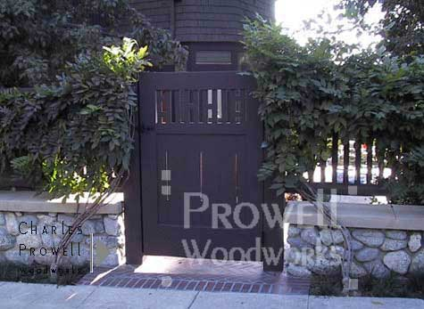 Arts and crafts wood garden gate #5 in Pasadena