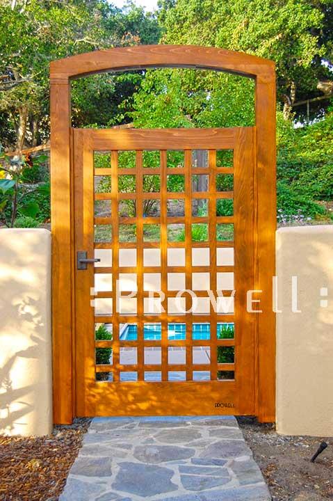 site photograph of gate design #60 in Monterey, California