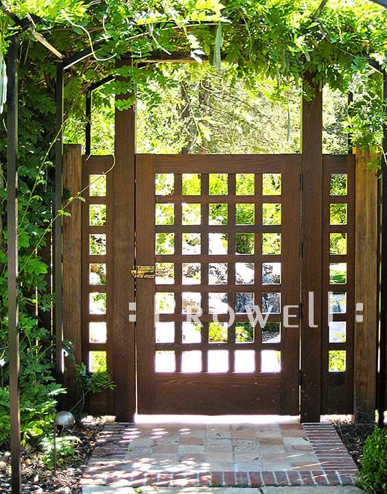 custom wood garden gate #60 in Marin county, CA