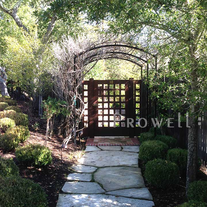site photograph showing entry wood gate #60-1 in Marin County, california