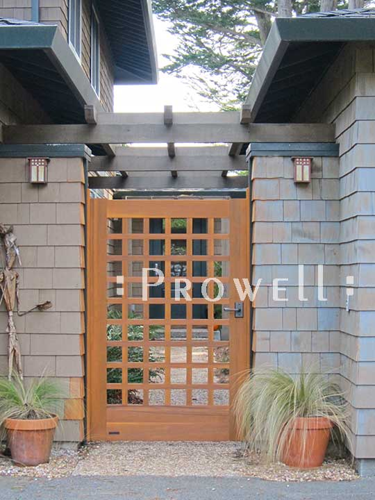 another site photo showing a close up of wood gate #60-4 in Mill Valley