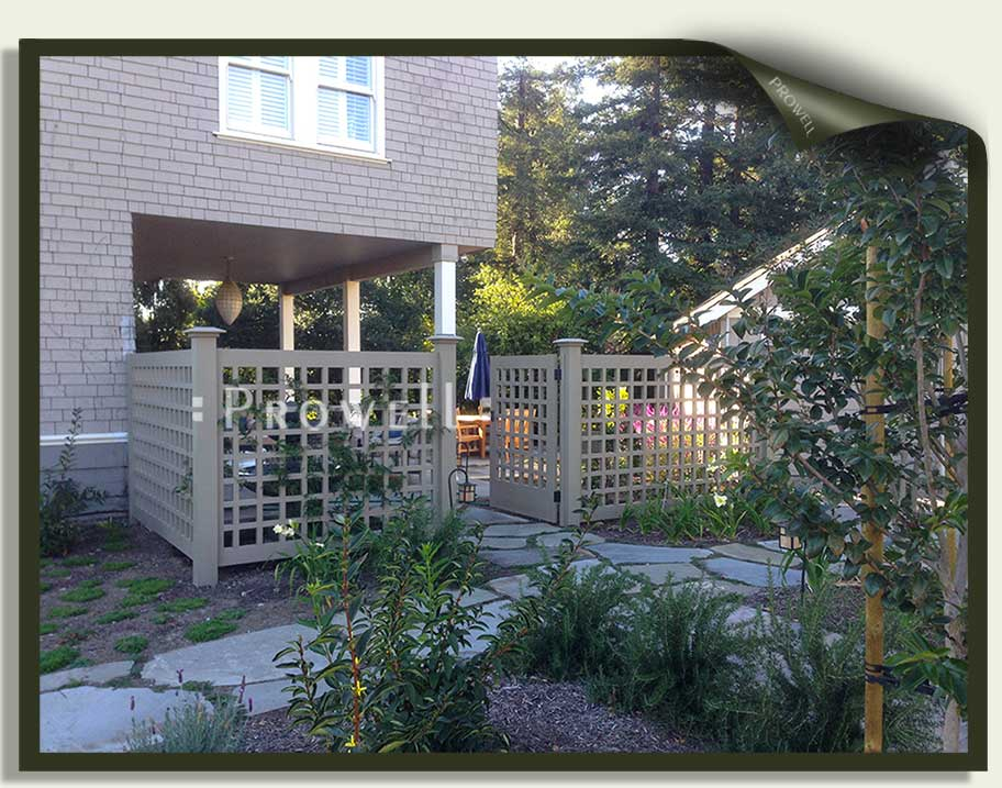on-site photograph showing wood gate design #60-5 in Marin County