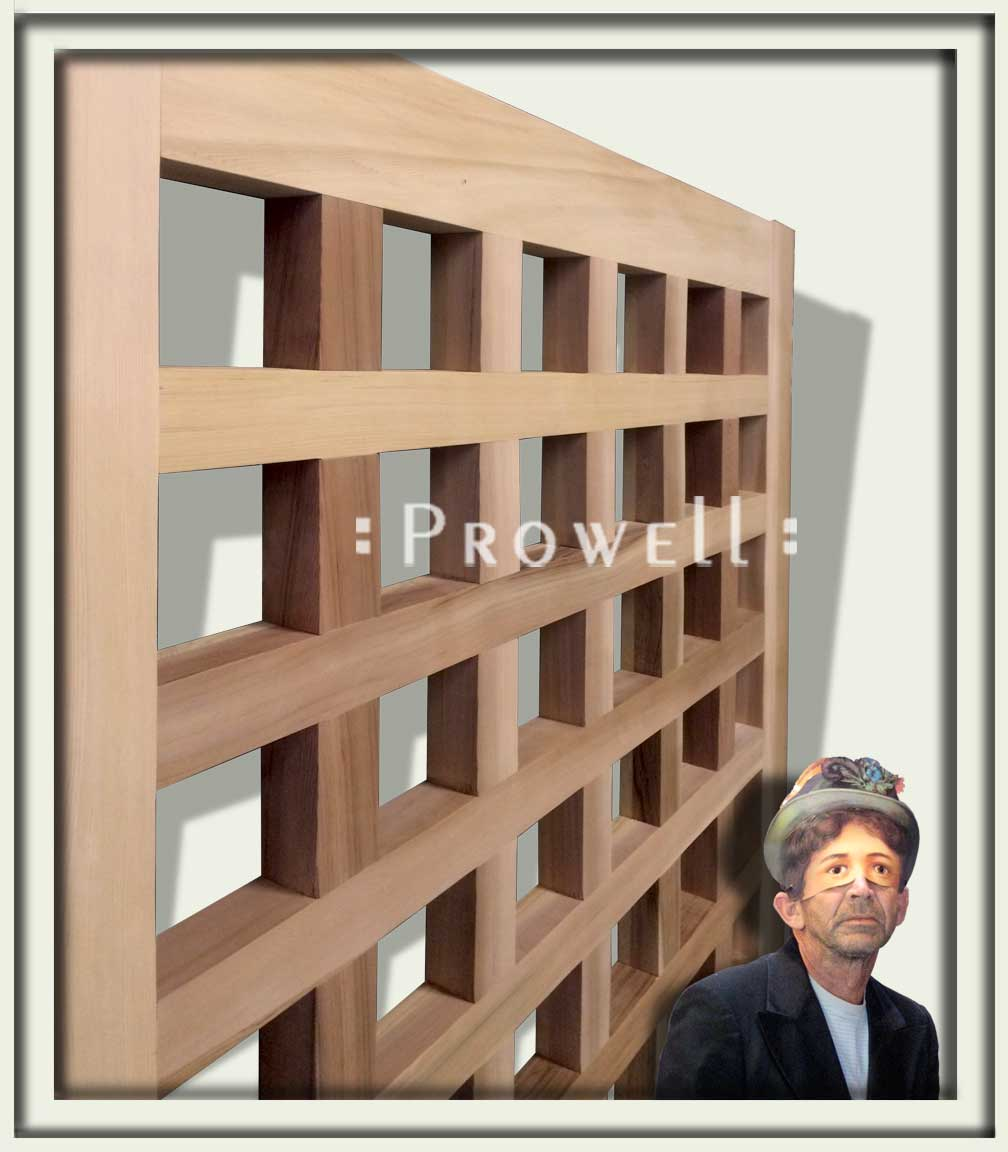 Humorous cropped photo of wood gate design #60-7