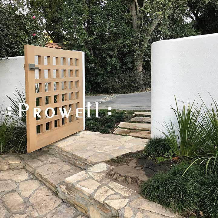 wood garden gate #60-7 in Beverly Hills. Prowell