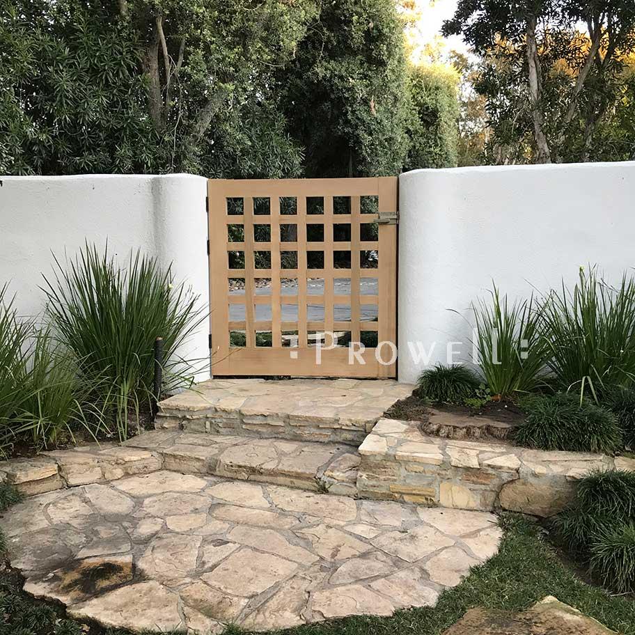 site photo showing wooden gate door #60-9 in Beverly Hills, california