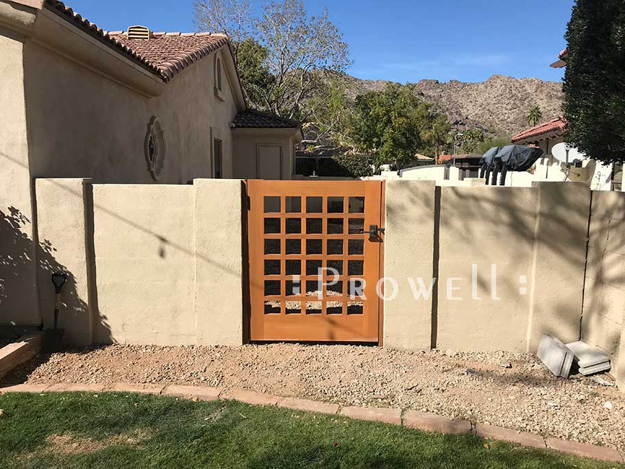 site photo of gate design #60-8 in Phoenix, arizona