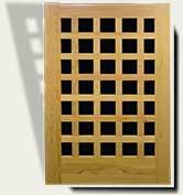 Open Grid Wood Garden Gate #60