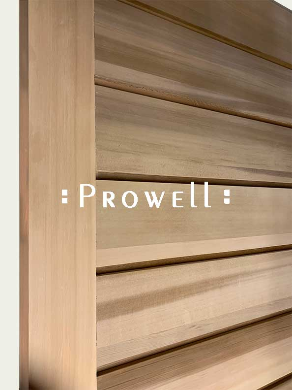 cropped image showing close-up of horizontal wood gate #61a. prowell