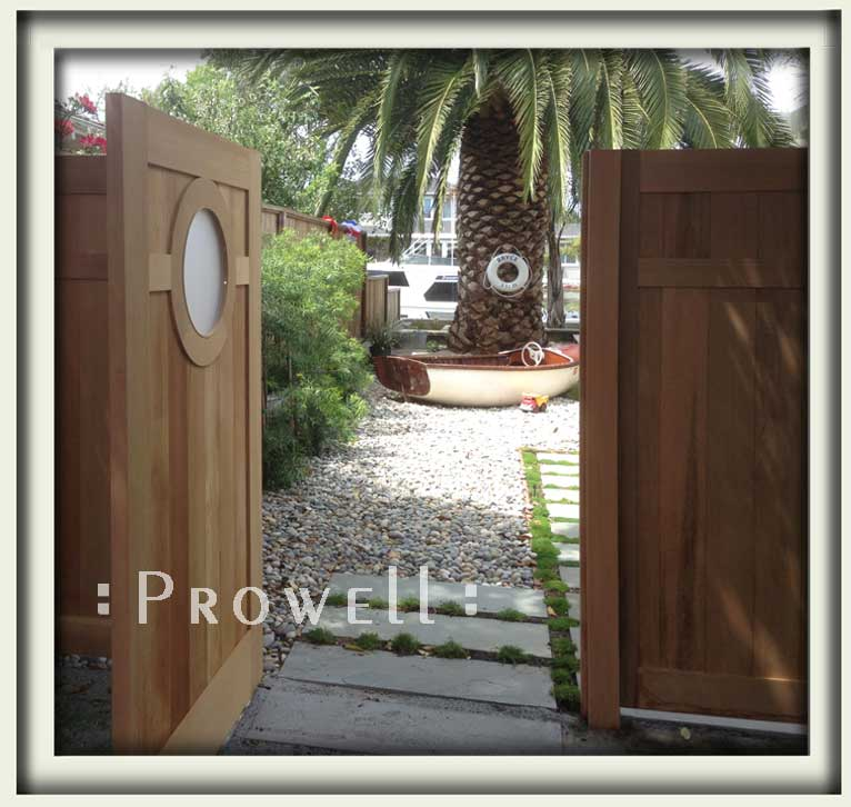 outdoor gates with round marine portal in california