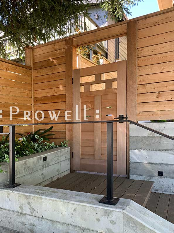 Another site photograph showing horizontal gate design 71-4 in Mill Valley, California