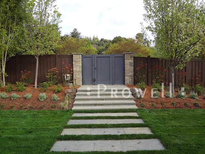 site photograph showing wooden double gates 72-2 in Petaluma, California