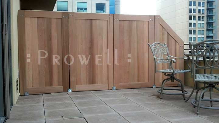 site photograph showing fence gate for privacy 72-3 in San Francisco, california