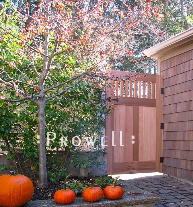 custom wood gate #73-2 in upstate New York. prowell