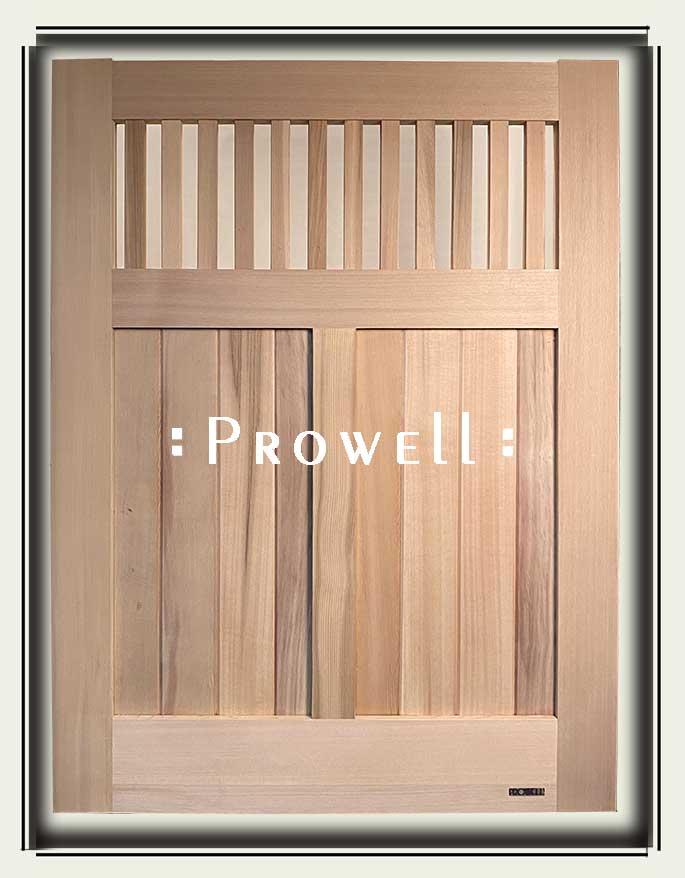 custom wood garden gate #73-2b. prowell