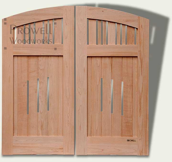 Custom Wood Arching Garden Gates #76