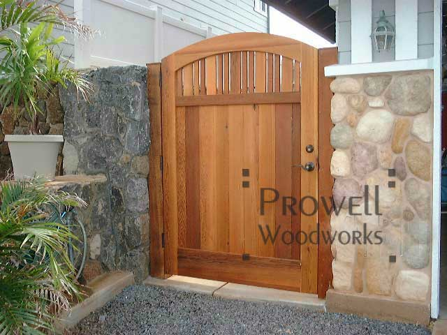 custom arching wood garden gates in Hawaii