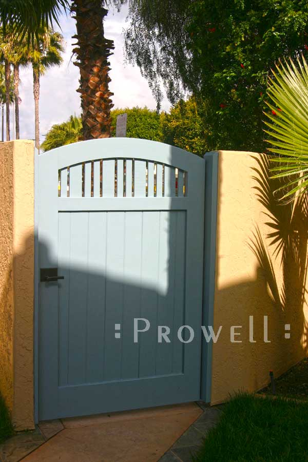 Wooden arched Gates #76-3 in San Diego, CA