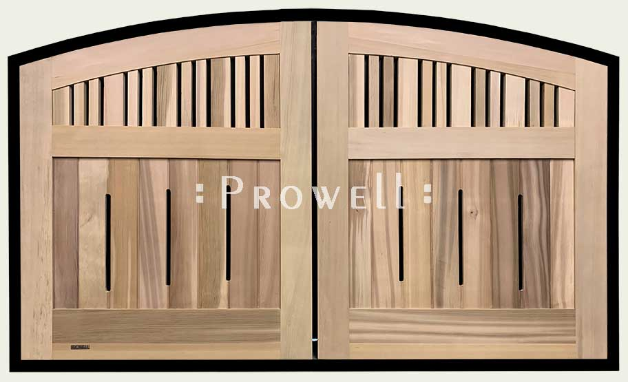 custom wood double gates #76-8. Prowell woodworks.