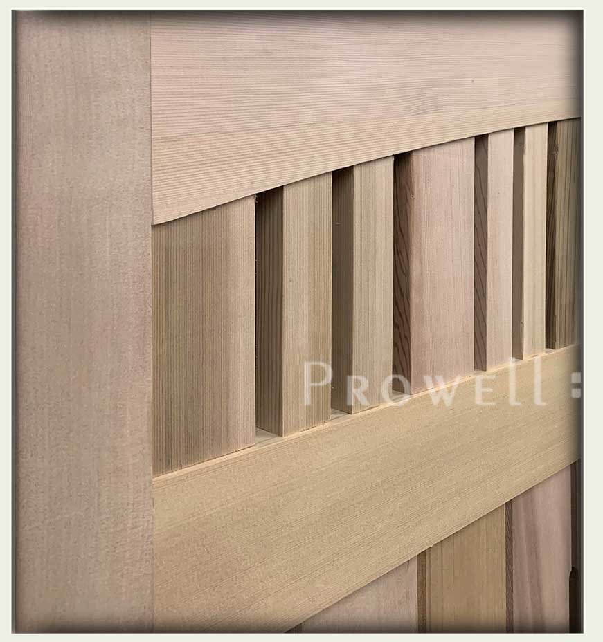 custom wood double gate 76-8a. prowell