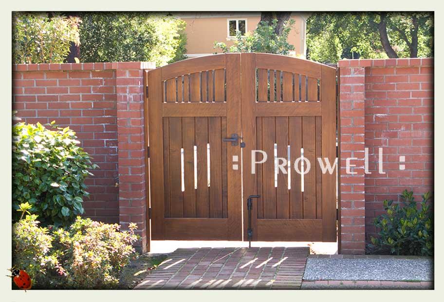 Custom wood garden gate #76 in palo alto, ca. prowell