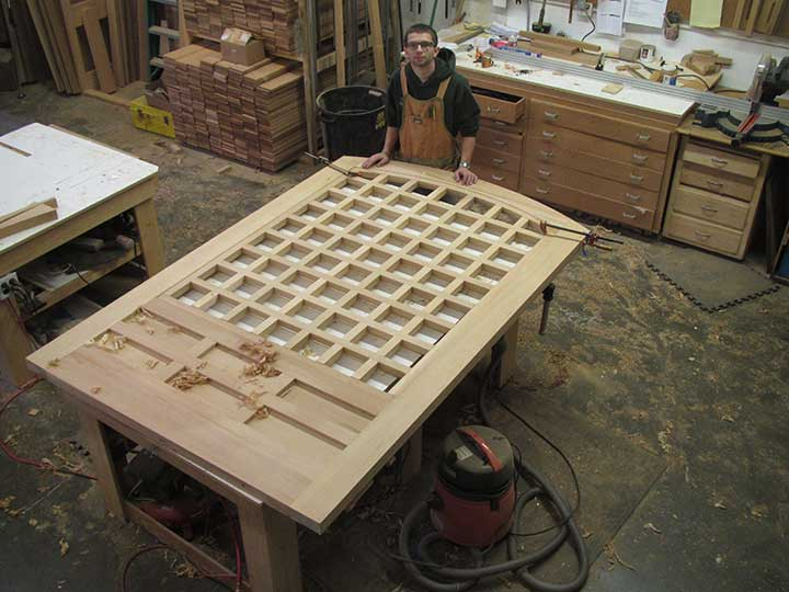 shop photo showing how to build a wood gate 77A