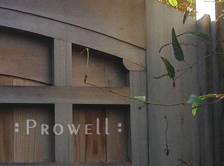 site photo showing the woodworking detail to security wood gate 77A