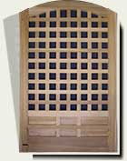 Open Grid Wood Garden Gate #77