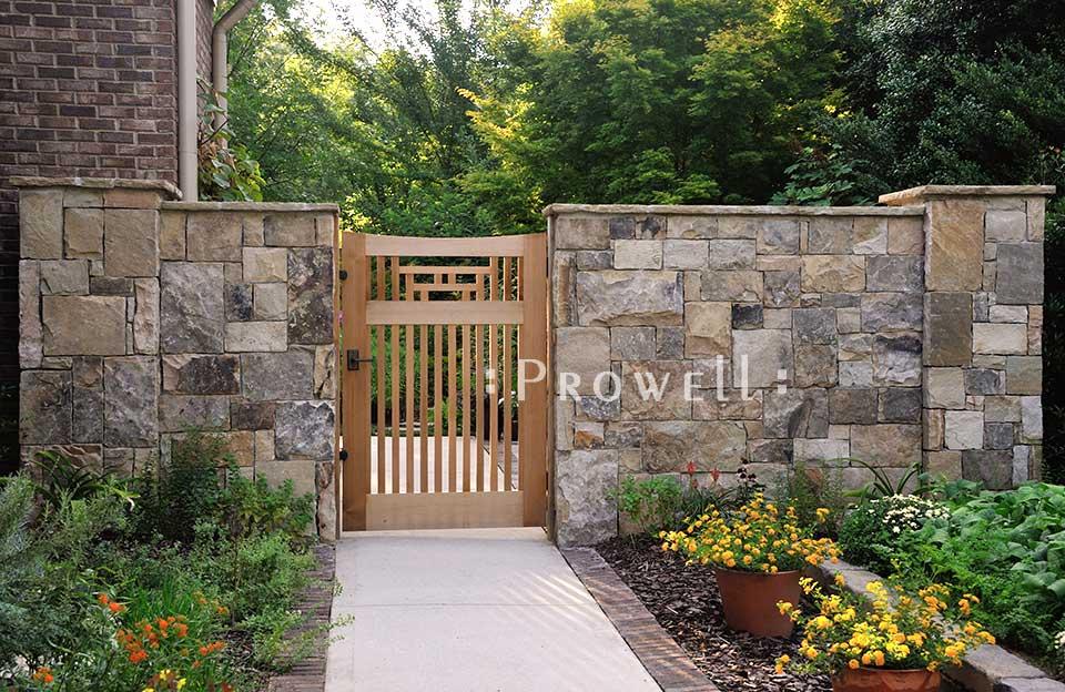 Japanese Custom Wood Garden Gate #79-10 in Atlanta, GA