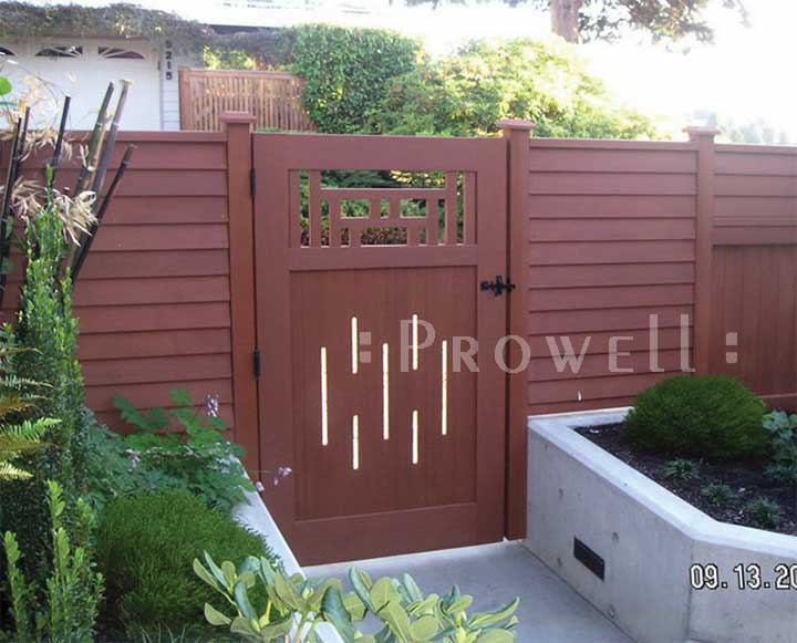 custom wood garden gate #79-11