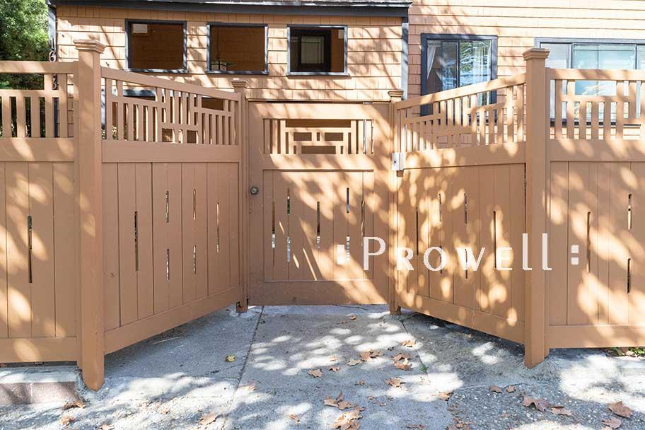 Craftsman Wood Gate #79-14 in Berkeley, CA. prowell