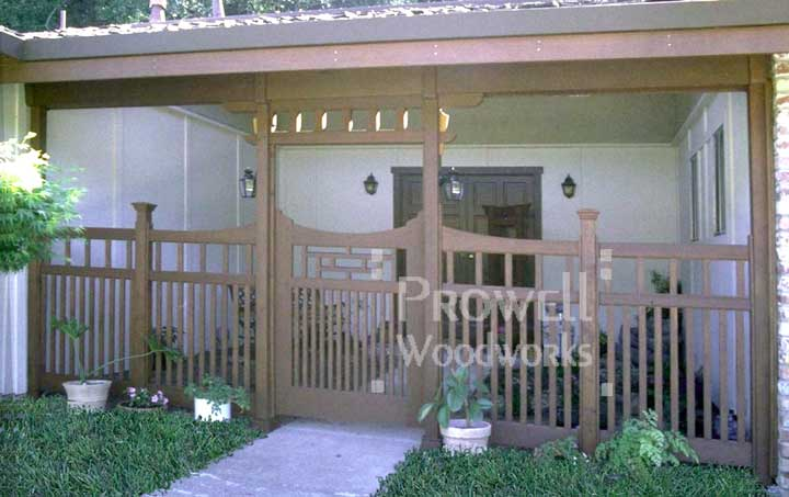 Arts and Crafts Wood Garden Gates in Novato, CA (Marin County)