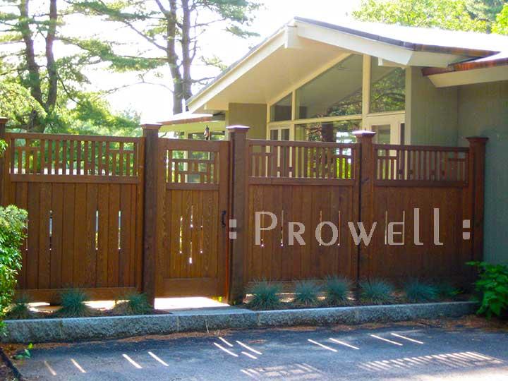 Japanese wood garden gates 79 in Andover, Massachusetts