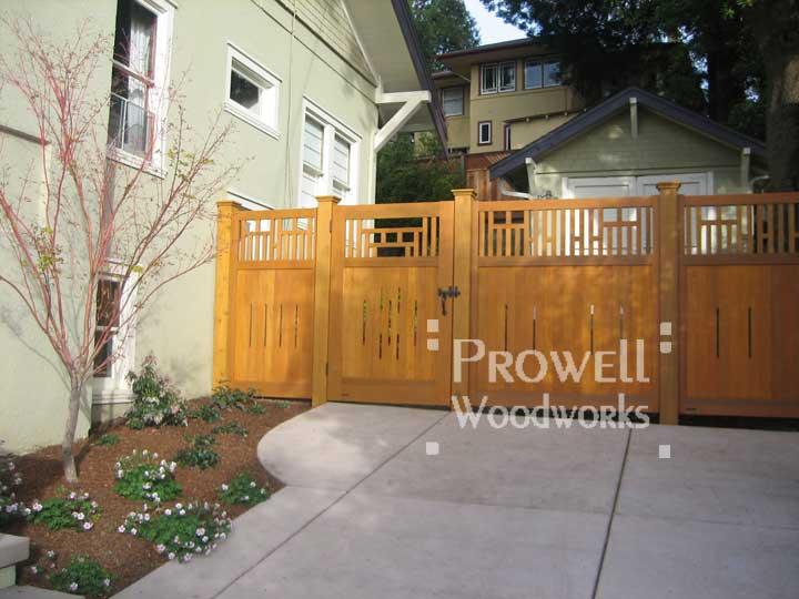 craftsman wood garden gate 79-6 in Oakland