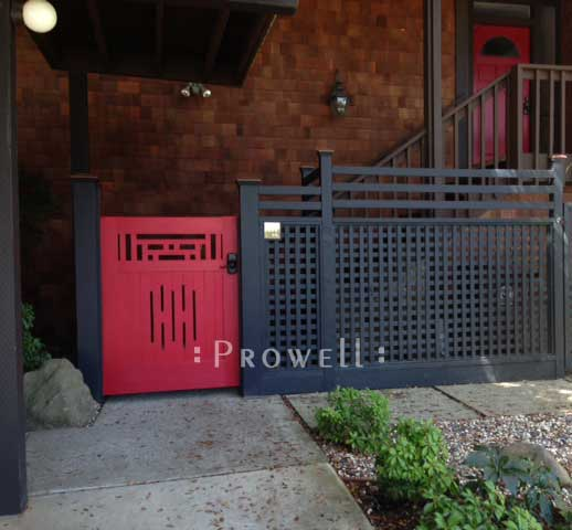Craftaman wood garden gates in the San Francisco Bay Area