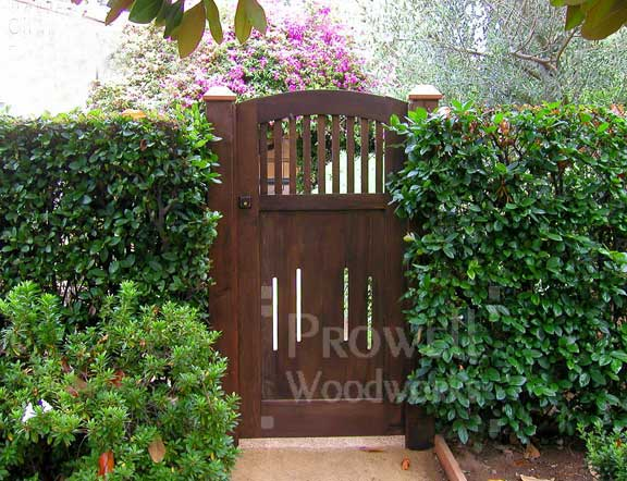 custom wood garden gates #7-12