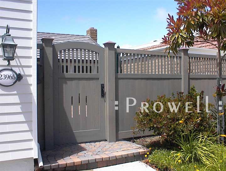 Wood Gate design #7-18 in southern California