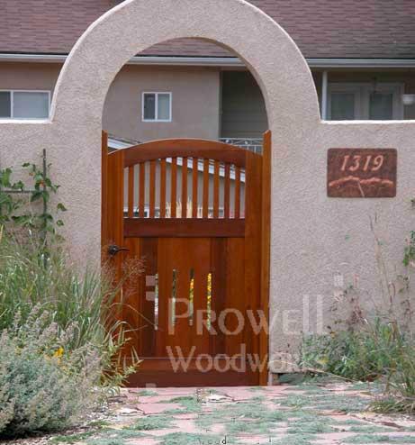 wood arched gates in Colorado