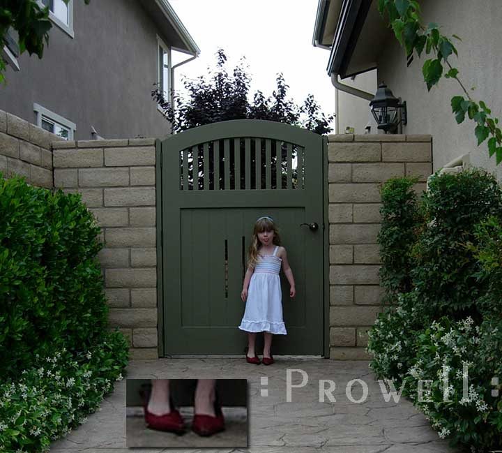 House gate wood #7-8 in southern california.