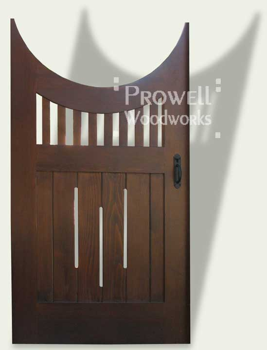 Curved top wooden gates #8