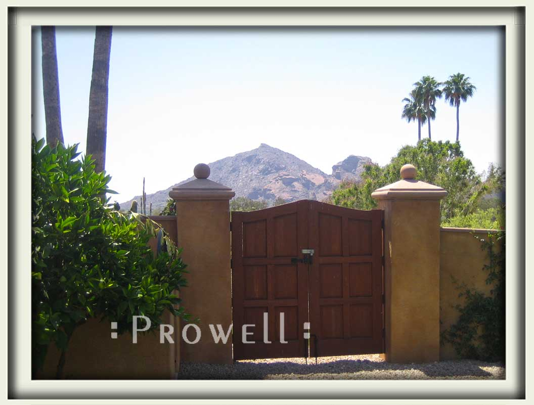 site photograph showing the double wooden gates #80 in Phoenix, Arizona