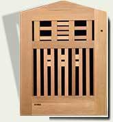 Open Grid Wood Garden Gate #81