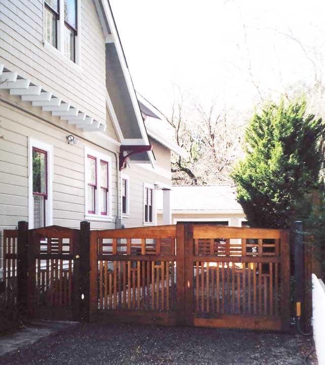 site photograph showing garden gate #81 in Los Gatos, CA