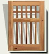 Open Grid Wood Garden Gate #82