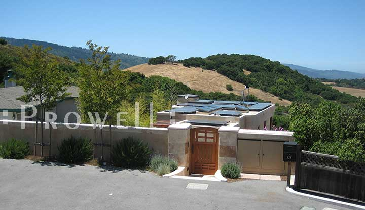 site photograph showing gate 84 overlooking the coastal hills of Woodside, California.