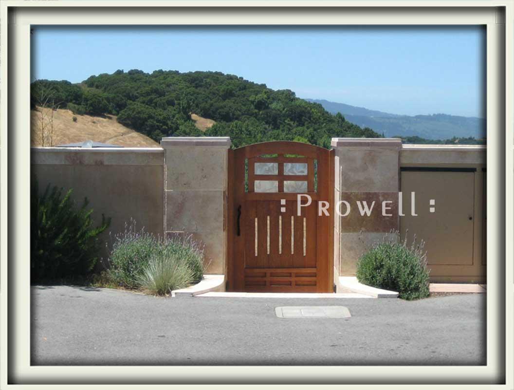 site photograph showing garden door #84with stone columns in Woodside, California