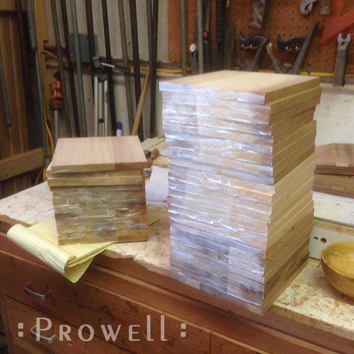 Shop photo showing how to seal the wood insert panels for all wooden gates #87