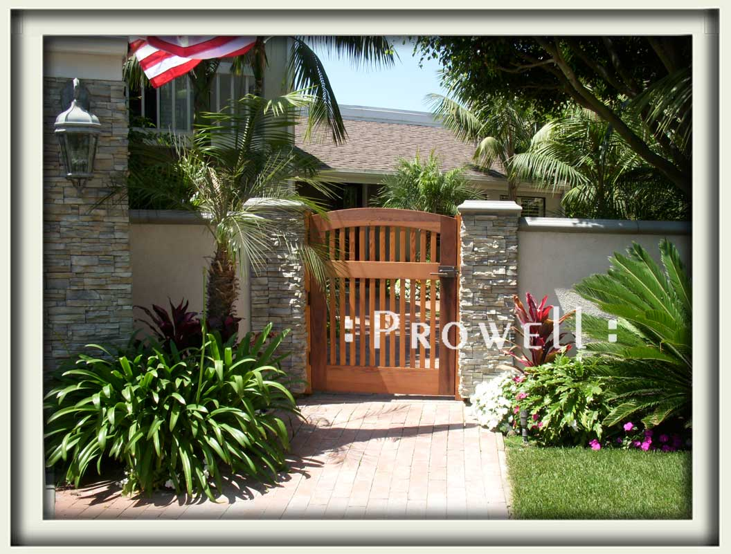 Site photograph showing custom wood gate #88 in San Clemente, California