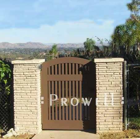 site photograph showing custom wood gates #88-2 in Encinitas, California