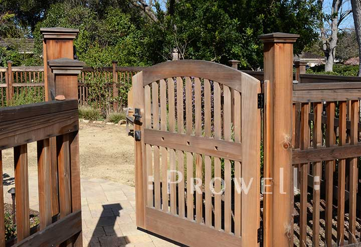 site photograph showing gate picket fence #88-3 in Los Altos, Calfornia